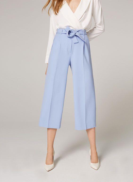 Fusta pantalon albastra foarte eleganta