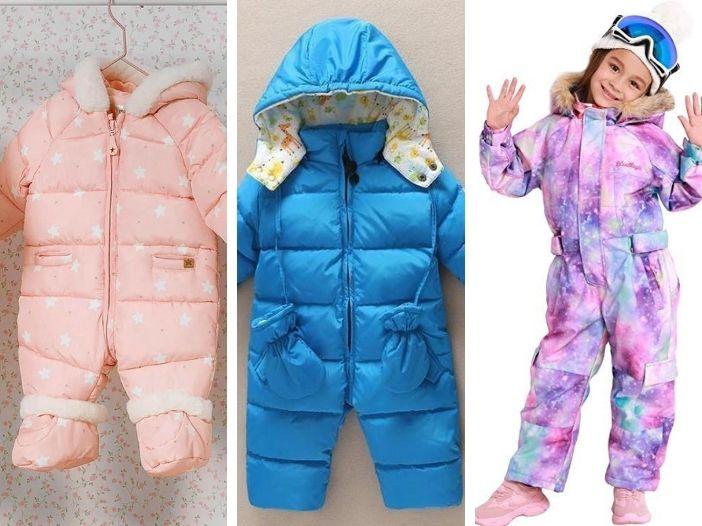 Combinezon copii ski ieftin pentru fete si baieti