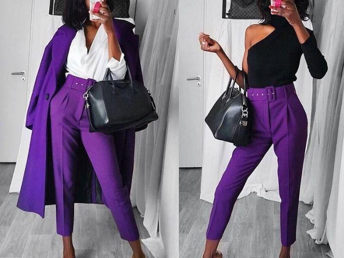 Pantaloni cu talie inalta dama